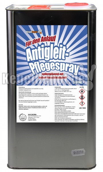 Antigleit-Pflegespray / 5 Liter