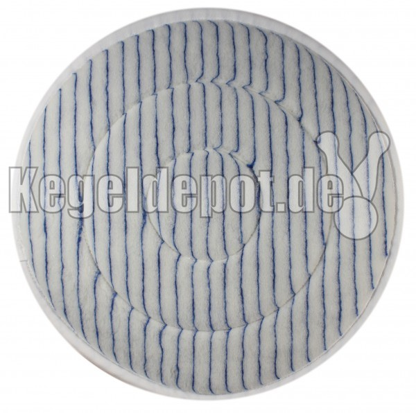 Microfaser-Pad, Ø 410 mm, blau-weiß gestreift
